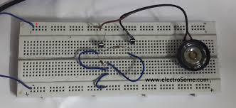 um melody generator circuit for beginners um66 music circuit on breadboard