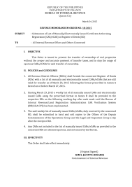 Philippine Real Estate Taxation Submission Of List Of Manually