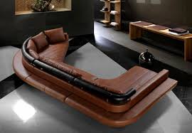 Contemporary Brown Leather Sofa  Modern Contemporary Leather Sofa - All leather sofa sets