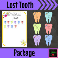 Tooth Loss Chart And Lost Tooth Take Home Card