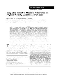 Target Boys Size Chart Pdf Daily Step Target To Measure Adherence To Physical