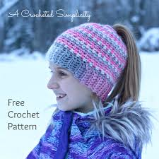 Ponytail Beanie Crochet Pattern Cool Free Crochet Pattern W Video Tutorial Linen Stitch Messy Bun