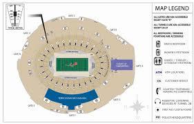 Citrus Bowl Seating Chart Football 51 Faithful Rose Bowl Detailed Seating Chart