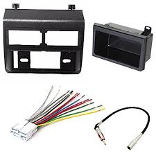 ultimum vitae car stereo radio dash installation mounting kit add on storage pocket wiring harness radio antenna adapter for select chevrolet and gmc vehicles