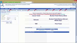 Refund Amount After Chart Preparation How To Cancel Indian Railways E Tickets Check Irctc Refund