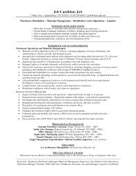 logistic manager resume sample new download warehouse manager