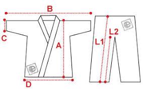 Karate Uniform Size Chart Size Chart Karate Uniform