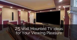 25 tv wall mount ideas for your viewing