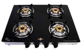 Gas Stove Service Chef Pro Classic Cgs 704 Glass Cook Top With 4 Burner Gas Stove