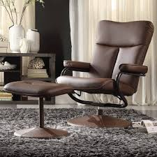 Leather Accent Chair With Ottoman Product