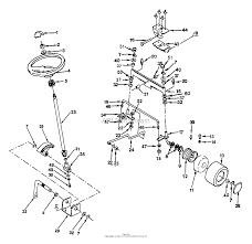 Husqvarna gt 160 h1644c 1991 08 parts diagram for steering front