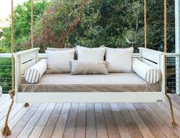 In Weathered Wood Swinging Porch Beds Charleston Sc Swing Bed Cushions  Design Plans