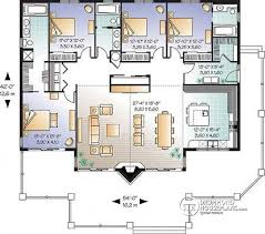 House plan W detail from DrummondHousePlans com st level Lakefront house plan  bedrooms  bathrooms  master suites
