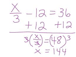 solving a two step equation math pre algebra simplifying