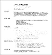 Free Contemporary Fashion Assistant Buyer Resume Template