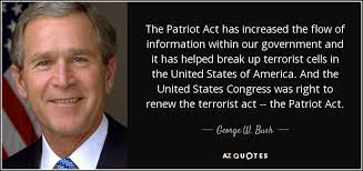 Image result for president george w. bush signed the patriot act