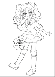 Hard Anime Coloring Pages For Kids With Cute Chibi Coloring Pages