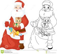 Small Picture Santa Claus With Gifts Coloring Page Stock Photos Image 33107123