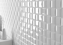 modern white 3d wall tile