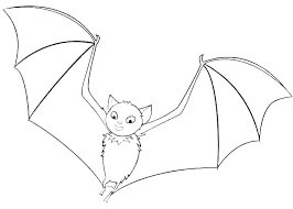 Bat Color Page Baseball Bat Coloring Page 3 Halloween Bat Printable