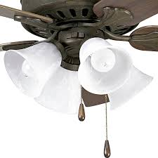 progress lighting airpro 4 light weathered bronze incandescent ceiling fan light kit with alabaster glass