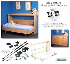 side mount twin murphy bed. Horizontal Wall Bed Kit Twin Plans Splendid Side Mount  Hardware Double . Murphy L