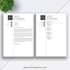 Resume Templates With Cover Letter Modern Resume Template CV Template Cover Letter References 244 24 19
