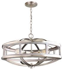 the montrose 4 light chandelier by eglo features an open frame with an acacia wood