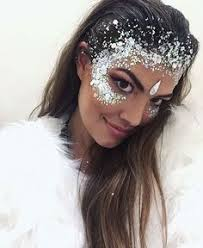festival glitter crown idea glitter highlight to crown perfect for ice queen glitter face makeupglitter