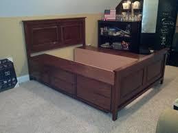 platform bed with storage diy queen