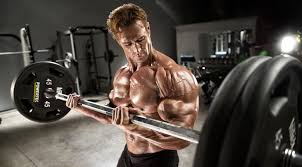 mike o hearn doing a barbell curl