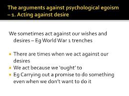 psychological egoism 8 the arguments against psychological egoism