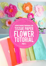 Large Tissue Paper Flower Giant Tissue Paper Flower Tutorial Part 1 At Home With