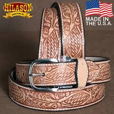 46 hilason oakleaf made in the usa holster leather work belt brown com
