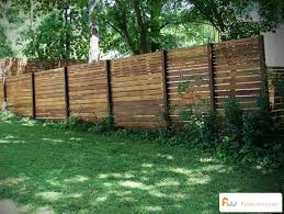 horizontal wood and metal fence. Fine And To Horizontal Wood And Metal Fence
