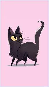 Cute Cat Wallpaper Cartoon - 14x14 ...