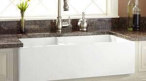 white kitchen sink. Interior: 36 Risinger 60 40 Offset Bowl Fireclay Farmhouse Sink Smooth Really Encourage Apron White Kitchen