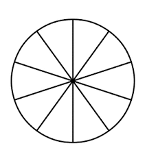 Tenth Of An Inch Chart Fraction Pie Divided Into Tenths Fractions Pie Chart