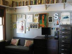 books up high for study/studio - love the tv mount... not the focus of ...