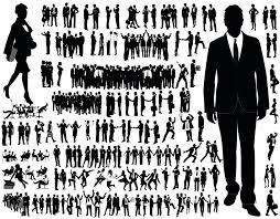 商务人物剪影矢量素材下载图片id378335 日常生活 矢量素材 集图网