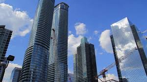 High Rise Building Construction With Cranes Stock Video Footage