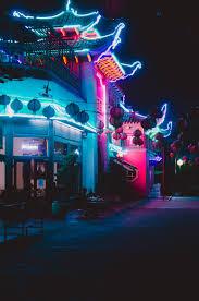 chinatown los angeles neon lights at night