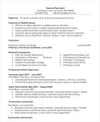 Pharmacist Resume Objective Sample pharmacist sample resume foodcityme 89