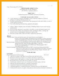 Resume For Lab Technician Enchanting Chemistry Lab Technician Resume Socialumco