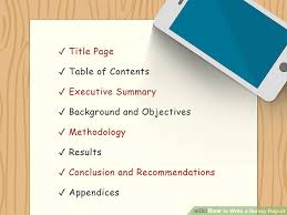 Survey Report How To Write A Survey Report With Pictures Wikihow