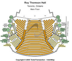 Roy Thomson Hall Seating Chart Detailed Roy Thomson Hall Tickets And Roy Thomson Hall Seating Charts