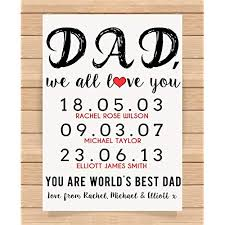 personalised presents gifts for father daddy step dad him from sons daughters birthday fathers day