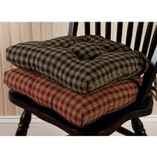 Sturbridge Plaid Chair Pad Yankee Work. Country Kitchen Chair Cushions  Trendyexaminer