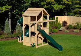 multi level swing swing set for small yards with a slide