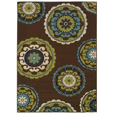 7u002710 x 10u002710 outdoorindoor area rug in brown teal 7 10 outdoor rug5